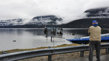 Skagway ferry dock sinks