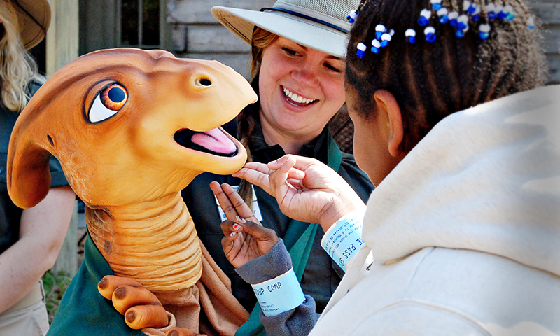 20 life-size dinosaurs have moved in at Stone Mountain Park. (Joleen Pete Photography)