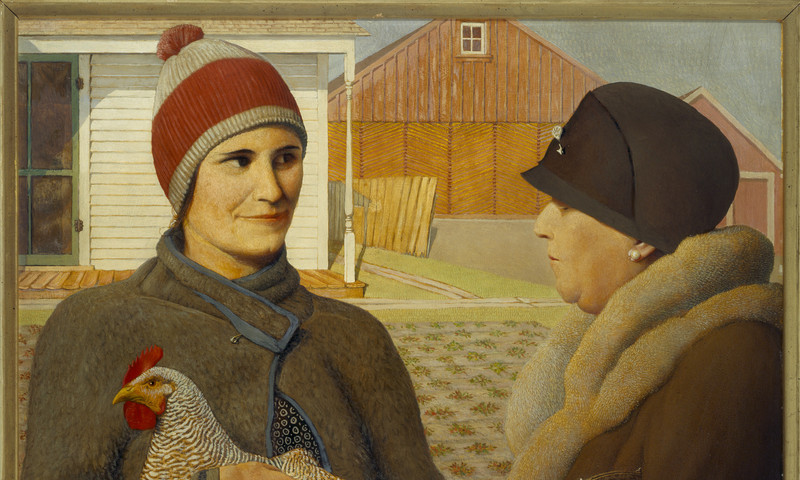 """""""Appraisal,"""" 1931 is a Grant Wood painting."""