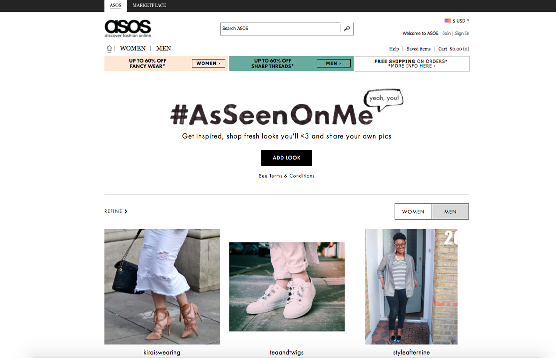 ASOS #AsSeenOnMe User generated content