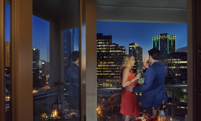 City lights and champagne bring on the romance at Mandarin Oriental.
