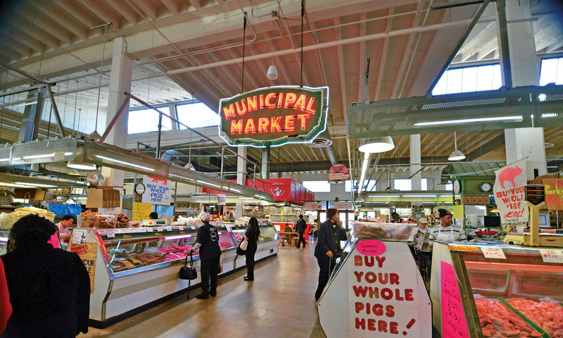 Find Grindhouse Burgers at Municipal Market, aka Sweet Auburn Curb Market. (Scott White)