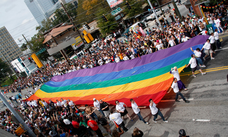 The Atlanta Pride Parade is one of the largest in the country and the annual parade is not to be missed.