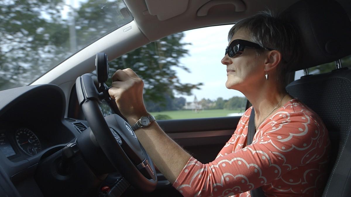 Customer Pauline driving