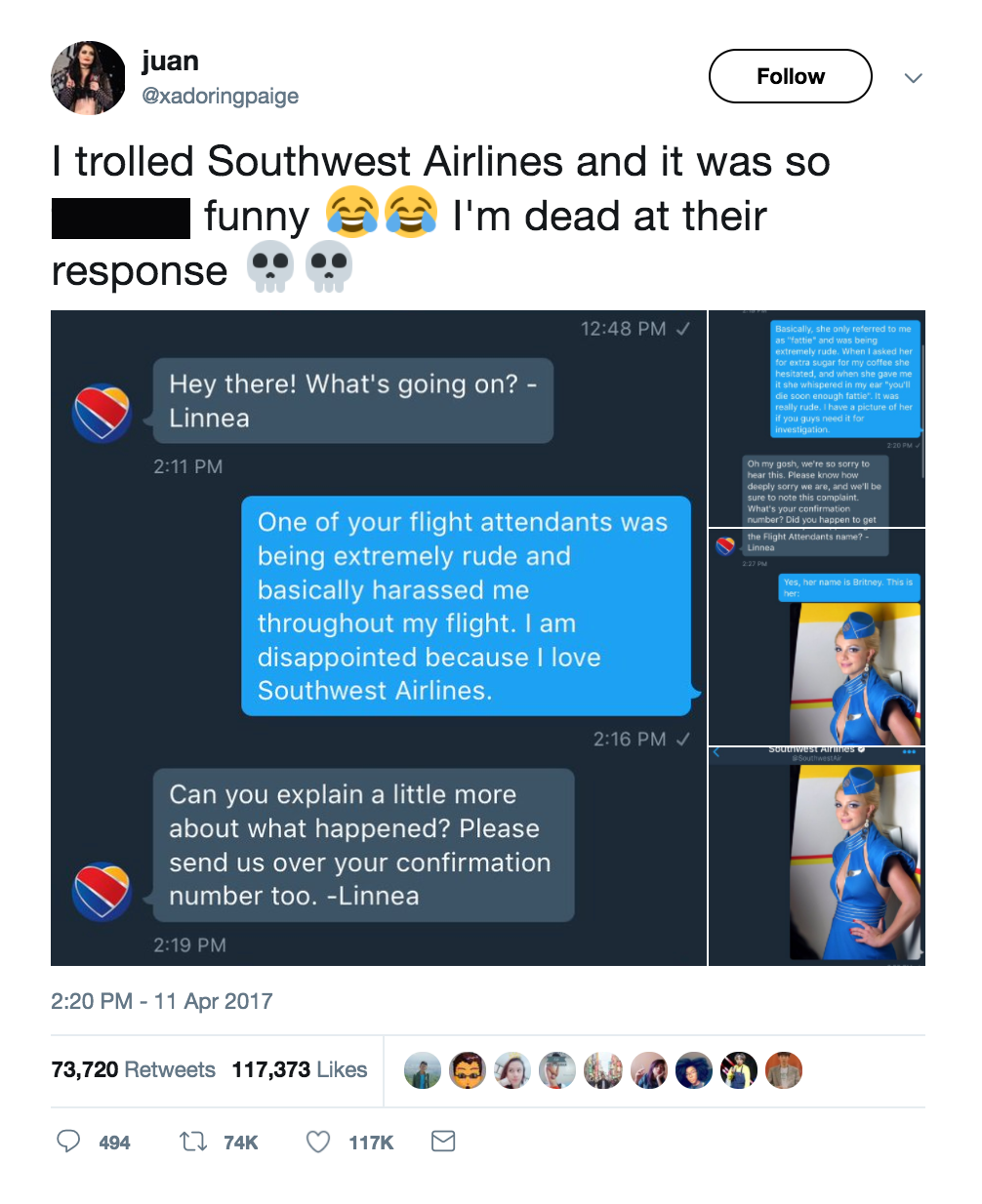 Southwest interaction