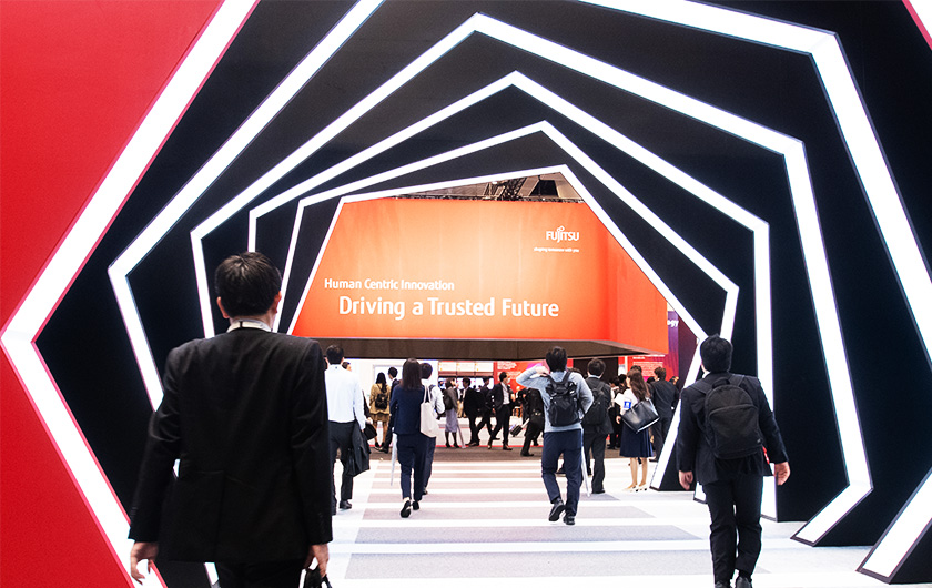 Main visual : [Flash Report: Part 1] Driving a Trusted Future with 5G, AI, and Blockchain! Fujitsu Forum 2019 Event Report