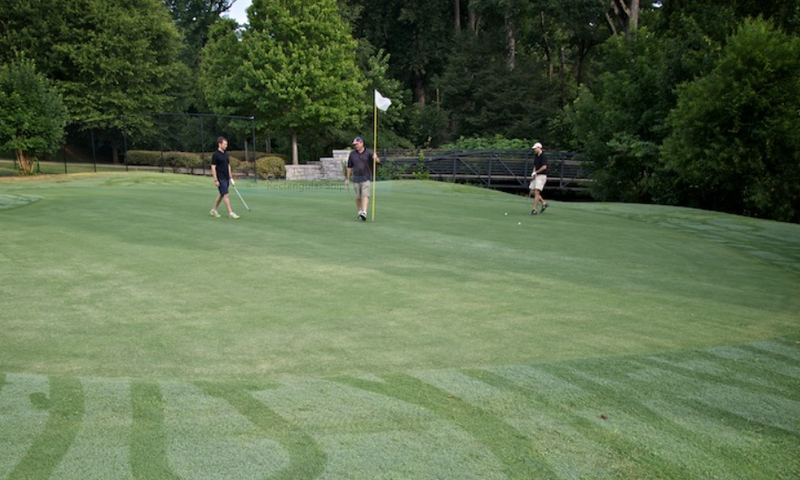 Candler Park Golf Course is a 9-hole course that features a hilly terrain and wildlife.