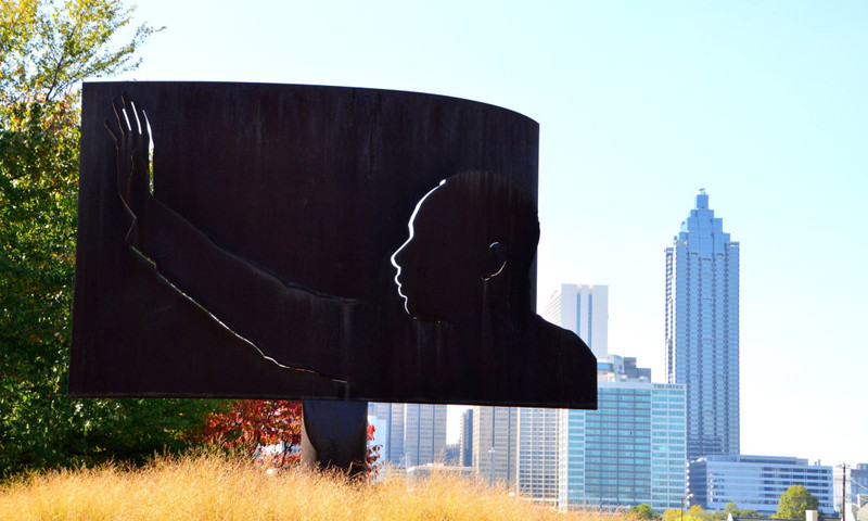 Dedicated to Dr. Martin Luther King Jr., this is just one of the art installations in Freedom Park. (Lisa Panero)