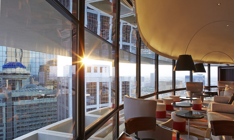 Polaris, on top of the Hyatt Regency in Downtown ATL, has a beautiful 360-degree view.