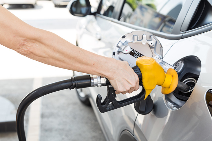 Filling Motability Scheme car with fuel