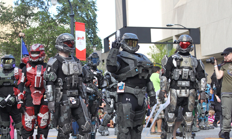 Dragon Con means lots of soldiers from the future. But don't worry―these are good guys.