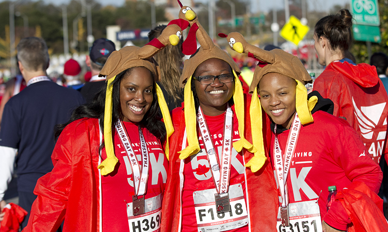 Earn that turkey dinner at the annual Thanksgiving Day Half Marathon and 5K. (Atlanta Track Club)