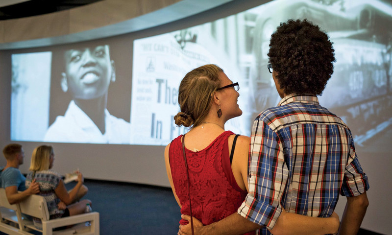 See ATL's civil rights history at the Center for Civil and Human Rights. (Dustin Chambers)