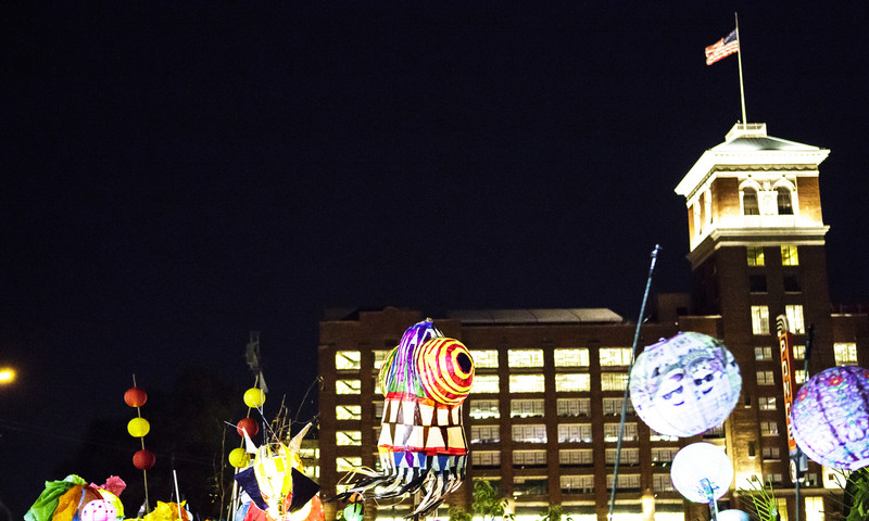 An Atlanta classic, the BeltLine Parade lights up the night. (Christopher T. Martin Photography)