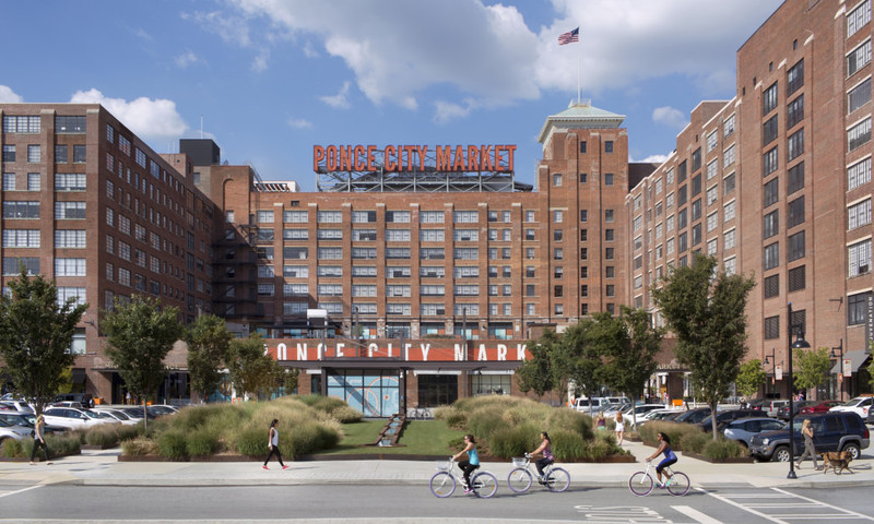 Ponce City Market, right off the Eastside Trail, has just about every food or drink that you crave. (photo Jamestown)