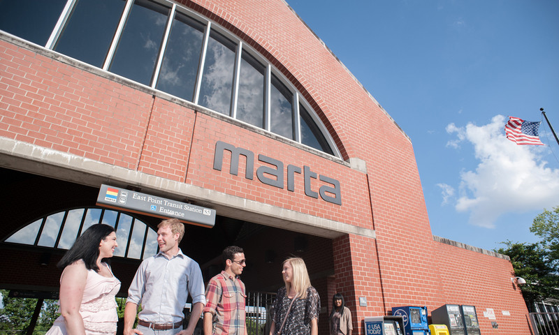MARTA's rapid rail transit system is a great way to navigate the city.