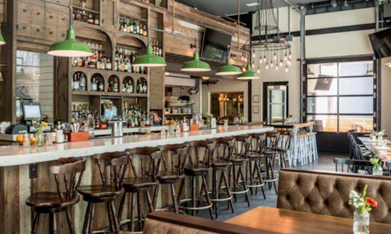 Hampton + Hudson is an upscale sports bar in Inman Quarter.