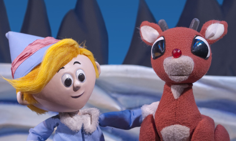 Rudolph and friends land at the Center For Puppetry Arts. (Clay Walker)