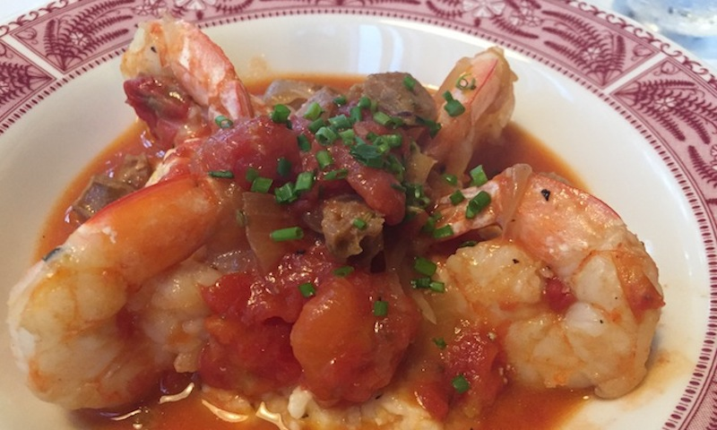 Shrimp and grits are a specialty at Southern Bistro in Sandy Springs.