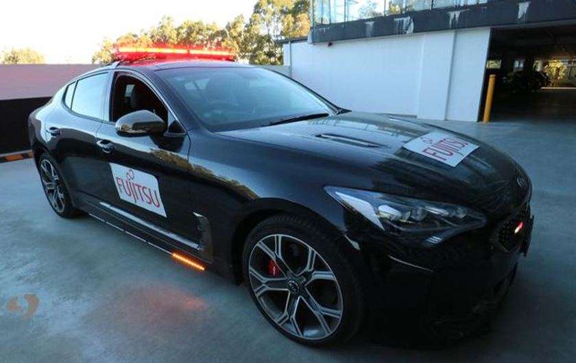 Main visual : Fujitsu's artificial intelligence makes police cars smarter, and safer