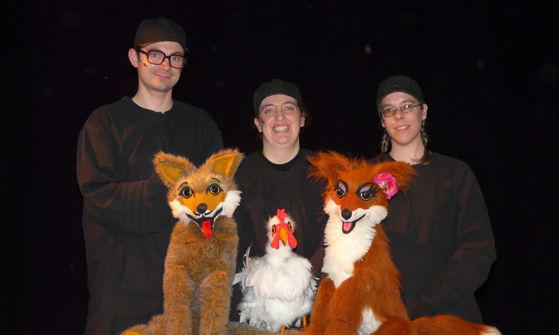 """For family fun see """"Brother Coyote and Sister Fox"""" at the Center for Puppetry Arts. (Diane Pavelin)"""