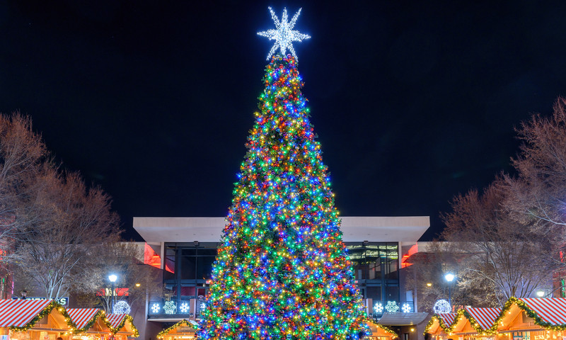 Atlantic Station holds one of several tree lightings this weekend.