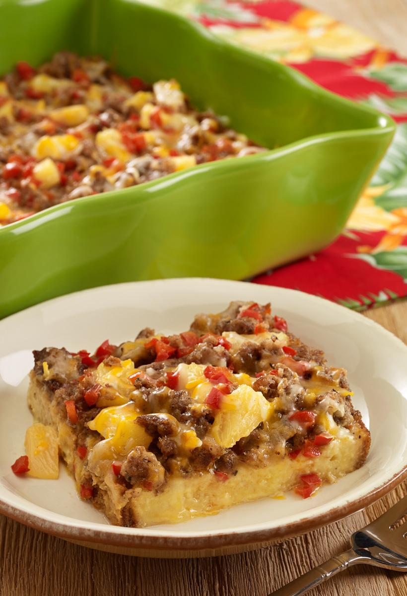 hawaiian-sausage-brunch-casserole-for-a-crowd