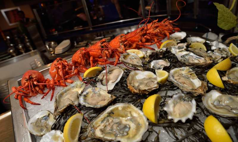 Shellfish galore await at Ray's in the City.