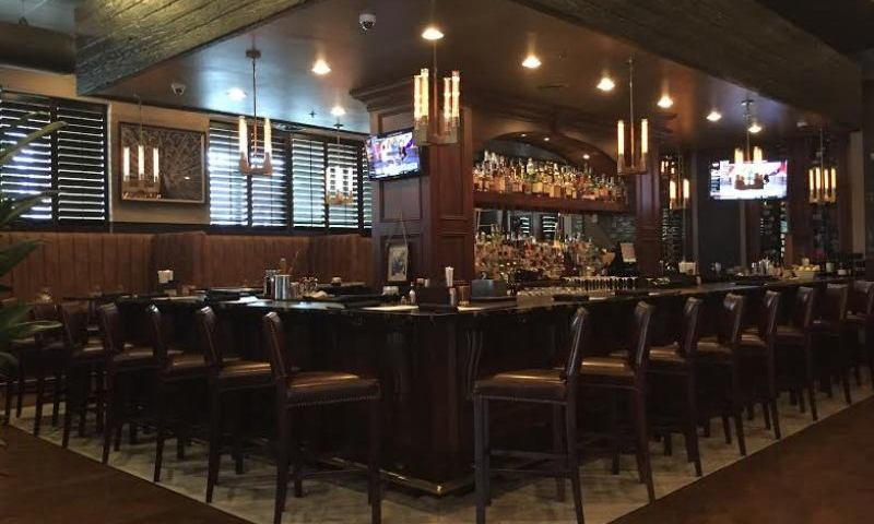 Dark Wood And Comfy Seating At 101 Steak Provide A Serene Setting For Any Business Lunch