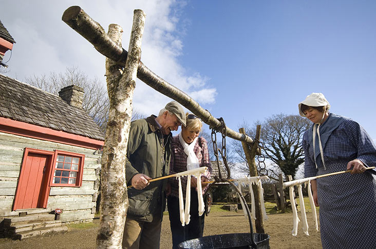 Candle dipping at Ulster American Folk Park