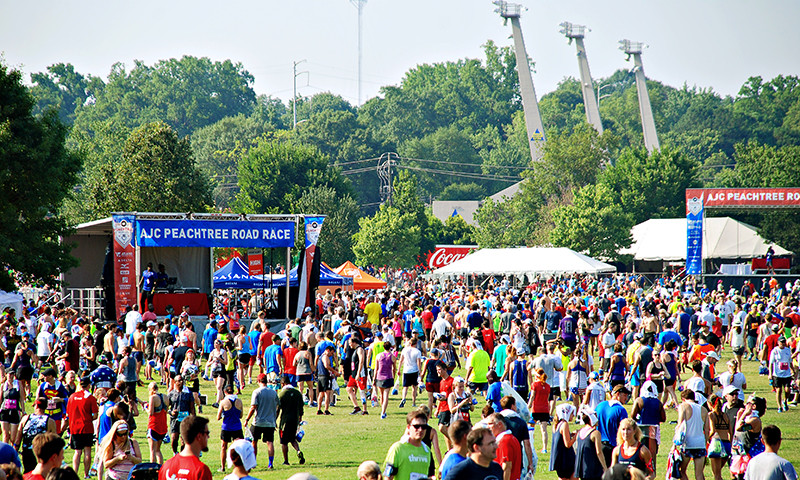 The AJC Peachtree Road Race is in its 50th year. (📷 Joleen Pete)