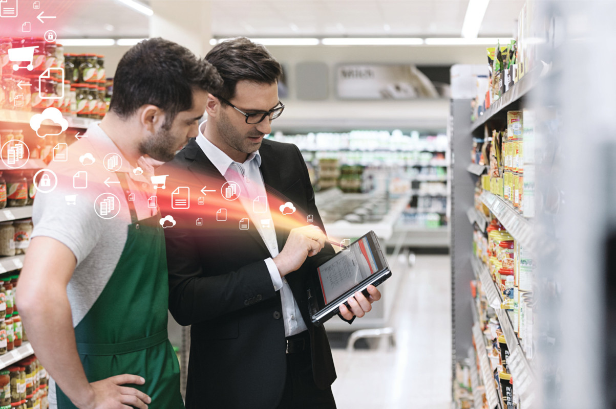 Main visual : The changing technology landscape in grocery stores today
