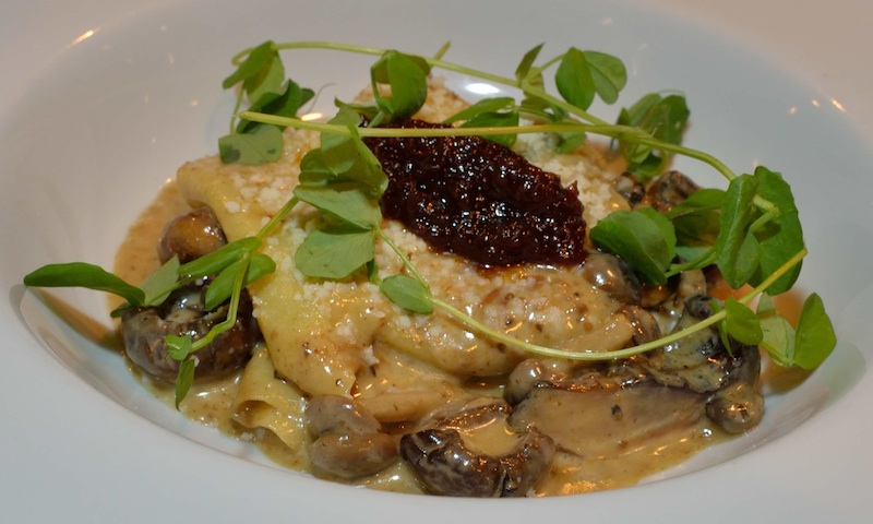 Here's the mushroom pasta dish, the first meal Better Half's Zach Meloy prepared for his wife.