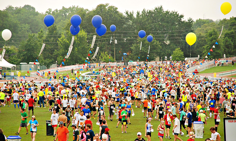 Fourth of July in Atlanta begins with the Peachtree Road Race.