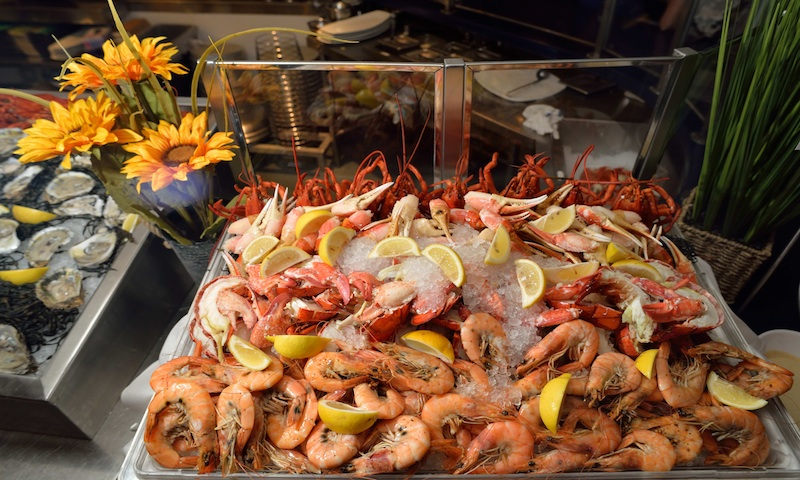Ray's in the City offers a tempting selection of shellfish.