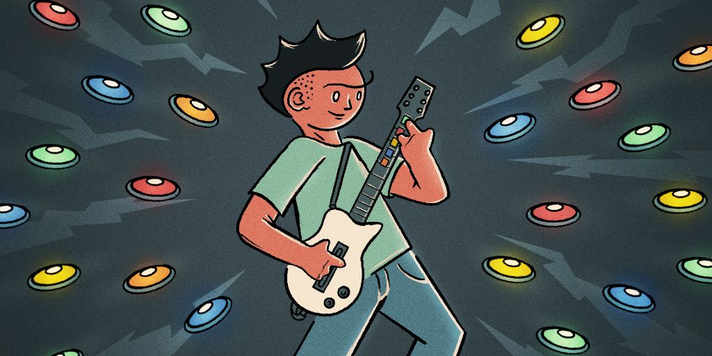 The Rise of Guitar Hero, Rock Band, and Rhythm Gaming