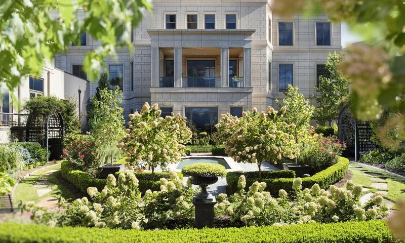 Picture yourself in the English Garden at the Mandarin Oriental Hotel.