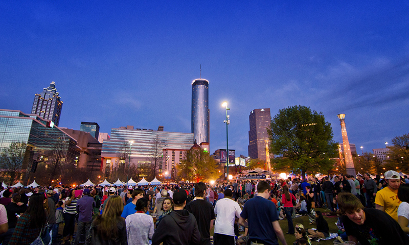 Downtown Atlanta attractions, concerts, festivals and events are in walking distance.