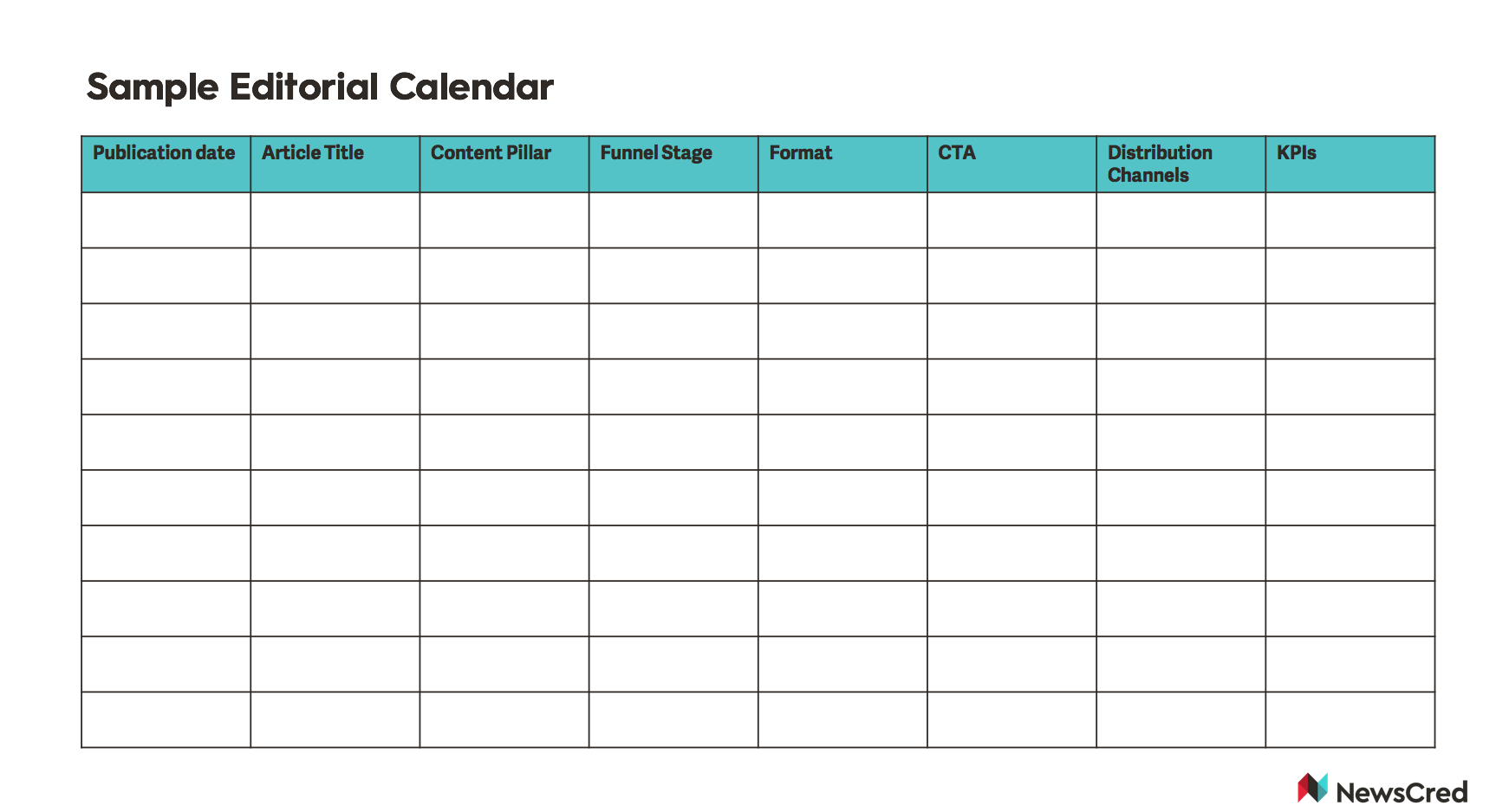 How to Create an Editorial Calendar for Content Marketing ...