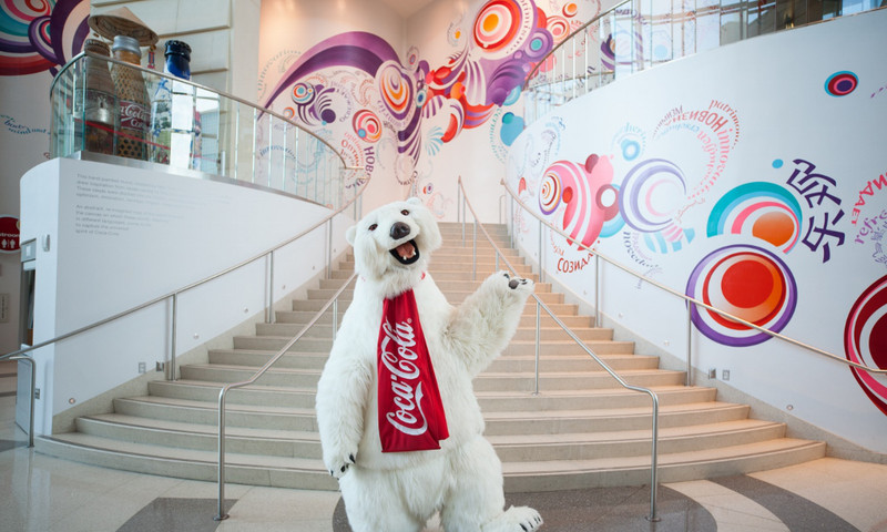 Say hello to the polar bear at World of Coca-Cola.