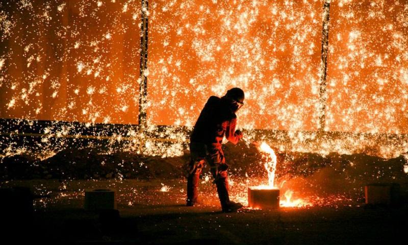 Castleberry Hill Iron Pour / Photo Courtesy: Atlanta Metal Arts Facebook