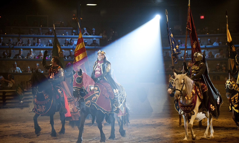 Kids love to travel back in time and enjoy unique dinner theater at Medieval Times.