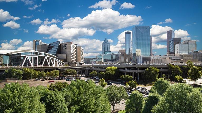 Atlanta Philips Arena Skyline