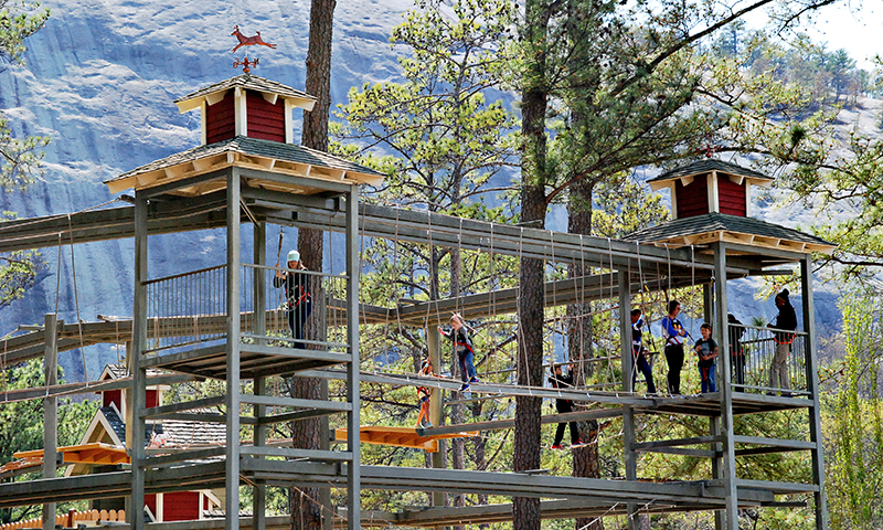 SkyHike at Stone Mountain Park is fun for the whole family. (Joleen Pete Photography)