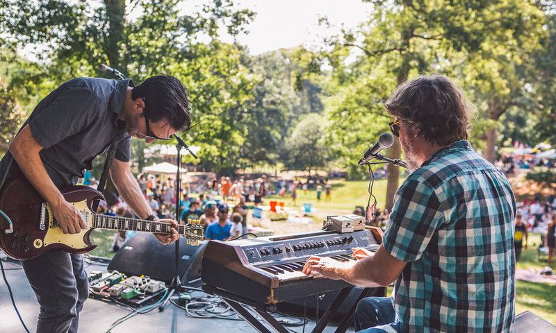 Art and live music collide at the Grant Park Summer Shade Festival. (photo Ryan Purcell)