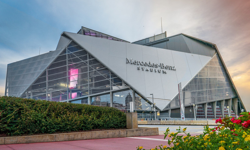 Mercedes-Benz Stadium is the in place to be in Atlanta.