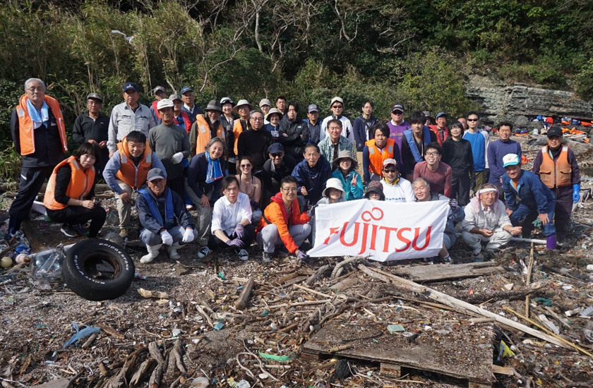 Main visual : Fujitsu works with Japanese community to combat marine waste problem