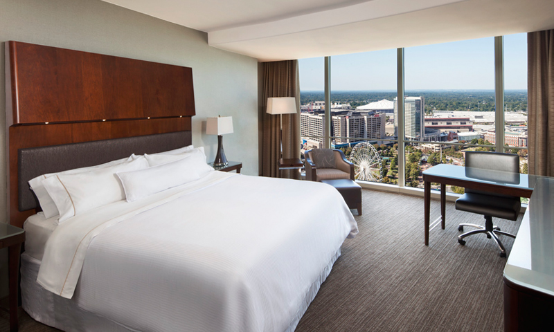 Get a good night's sleep and wake up refreshed with the Westin Peachtree Plaza's amenities.