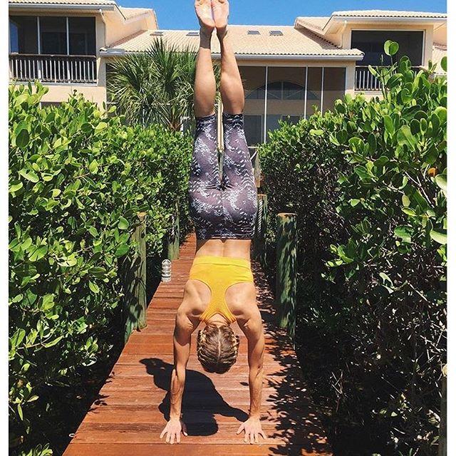 Yoga goals from @anovak4 in jockey #activewear! #mondaymotivation #yoga #liveinjockey