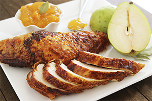 Bay Leaf and Honey Glazed Turkey with Pear Chutney.jpg